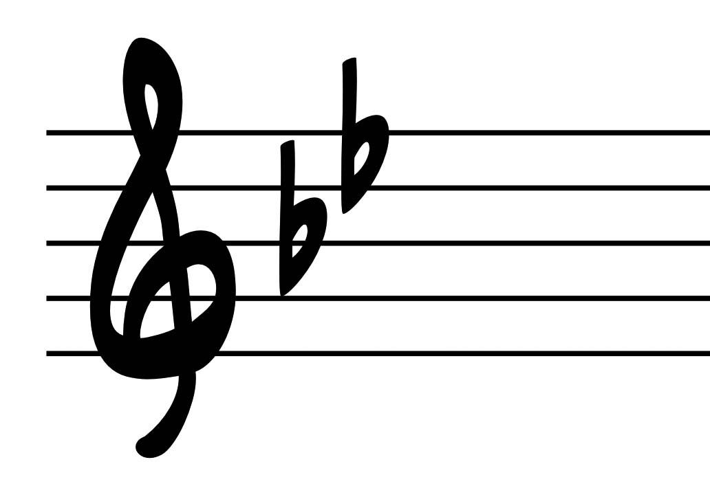 B Flat Major Triad Bass Clef Sheet Music Metronome Marking
