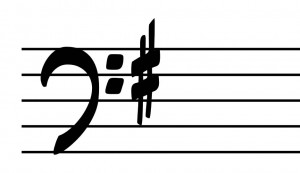 G Major Bass Clef Key Signature