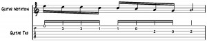 guitar sheet music example