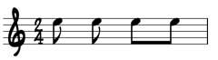 sheet music beamed quavers