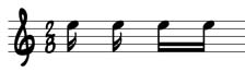 sheet music beamed semiquavers