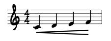 crescendo sheet music marking