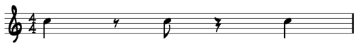 Combined Sheet Music Rests