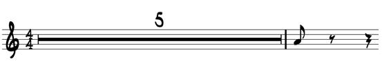 Multiple Bars Sheet Music Rest