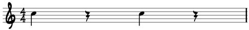 Quarter Note Sheet Music Rests