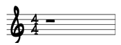 whole note sheet music rest