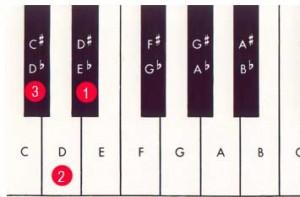 E relative major to C sharp relative minor