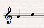 Musical Interval A to C