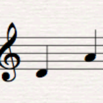 Musical Interval D to A