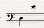 Musical Interval D to G
