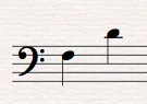 Musical Interval F to D