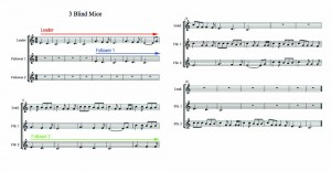 3 blind mice canon sheet music