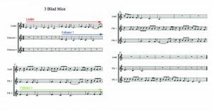 3 blind mice canon sheet music