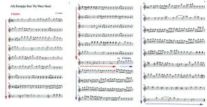Handel Ternary Form Sheet Music Example