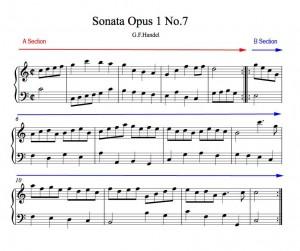 Handel gavotte binary form