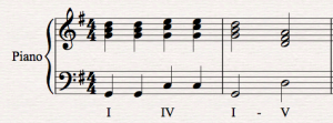 Imperfect Cadence in G major score