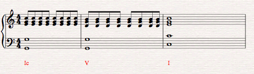 Second Inversion Sheet Music Example