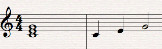 Arpeggio sheet music example