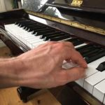 Left Hand piano playing position