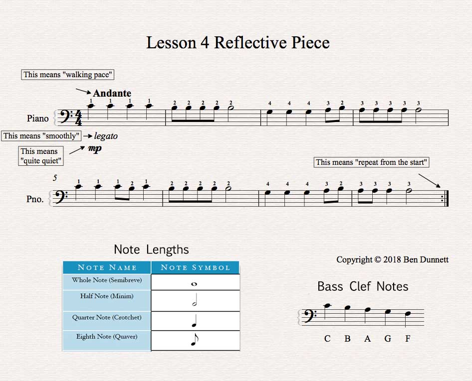 Piano Lesson 4 sheet music