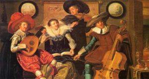 Renaissance musicians painting