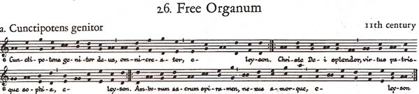 Free Organum Sheet Music example
