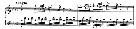 Alberti Bass example from Mozart