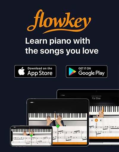 flowkey piano lessons sidebar widget ad
