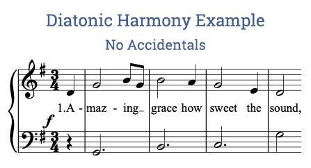 Diatonic harmony music example